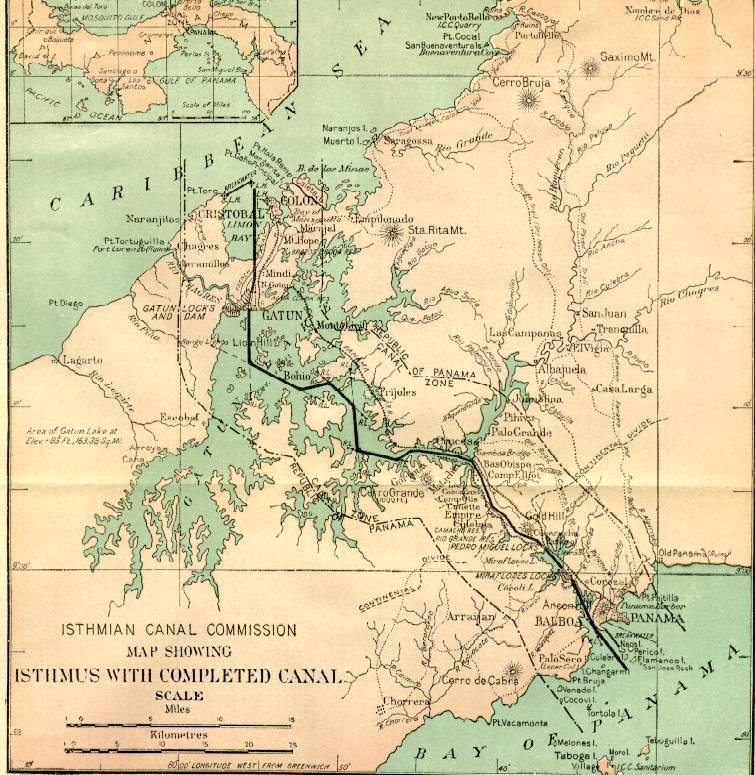 Panama Canal Zone Map